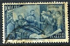 Italy #506 100L Death of Mameli F-VF Used High Value  Cat $27.50