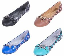 Women Multi-Color Ballerina Flats, Office & Casual Slip-On Shoes w/ Metal Buckle