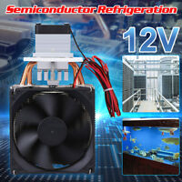 DC 12V 6A Thermoelectric Peltier Refrigeration Cooling System Kit Cooler Fan DIY