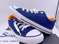 NIB SIZE 2Y YOUTH Converse All Star LOW Slip Boys Girls Kids Sneakers Blue White