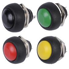 4PCS NEW Mini 12mm Waterproof Momentary ON/OFF Push Button Round Switch