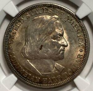 1893 NGC MS 62 Columbian Commemorative Silver US Half Dollar 50C toned
