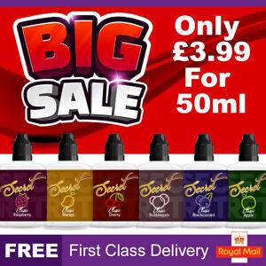 Secret E Liquid 0mg Cheap Vape Juice Nicotine E-Cigs E-Liquid