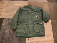 Triple Fat Goose Mens XL Green Down Filled Parka Puffer Jacket