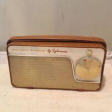 Vintage Sylvania Golden Shield Model 2701 All Transistor Radio Works VGC