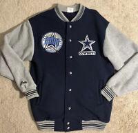 Dallas Cowboys VTG 2000 Millenium Season Majestic Snap Sweater Men's Medium RARE