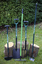 Set of 5 HEAVY DUTY Carbon Steel Garden Tools.Spade Fork Hoe Rake Lawn Edger
