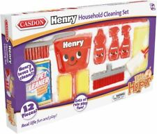 Casdon HENRY HOOVER HOUSEHOLD CLEANING SET Little Helper Role Play Toy BN