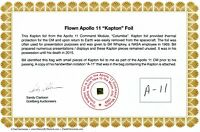 Apollo 11 - Double Size Gold Kapton Foil - Flown to the Moon - On Beautiful COA
