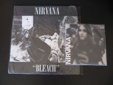 "Nirvana Bleach LP NM European Reissue & Love Buzz Unofficial 7"" NM Bootleg Rare"