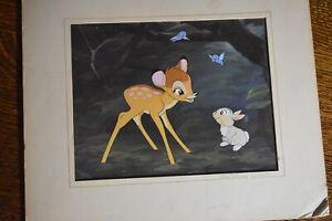 "Bambi, Thumper & the ""Birds""--""He Talks!"" Walt Disney Classic Litho Cell"