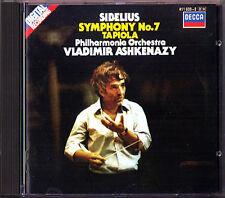 Vladimir ASHKENAZY: SIBELIUS Symphony No.7 Tapiola DECCA CD Philharmonia 1984