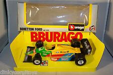 BBURAGO BURAGO 6102 BENETTON FORD RACING CAR MINT BOXED RARE SELTEN RARO!