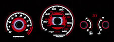 TYPE R RED GLOW 99-00 HONDA CIVIC Si GAUGES JDM EK9 EK FACE OVERLAY FREE SHIP