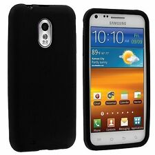 Silicone Skin Case for Samsung Galaxy S2 Epic Touch 4G D710 - Black