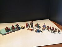 Department 56 Snow Village 11 Assorted Town People & 8 Plant Lot