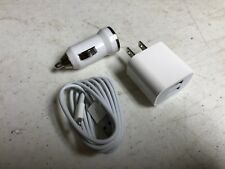 iPhone Lightning Dual Charger Home/Car Cord Cable Plug Apple 5 6 7 8 X 10 Xs Xr