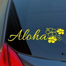 Aloha Hibiscus Cluster vinyl sticker decal car truck home wall Hawaii flower