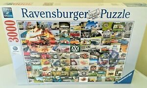 Brand New Ravensburger 3000 Piece Jigsaw Puzzle - 99 VW CAMPERVAN MOMENTS
