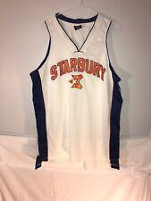 Starbury Basketball Jersey White Blue Orange #3 Stephon Marbury Adult Mens Large