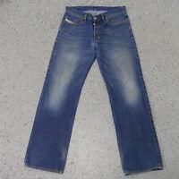 Diesel Kuratt Relaxed Straight Leg Jeans 32x34 Mens Denim 007 0Z Wash Button