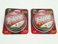 2 Pack Berkley Trilene  XL Fishing Line - 300 Yards Green -14 lbs Mono-filament