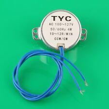 Robust Small Synchronous Synchron Motor AC 110V 50/60Hz 4W 10/12RPM CCW/CW J96g
