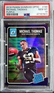2016 Optic Michael Thomas Purple Prizm RC PSA 10 Gem Mint New Orleans Saints!