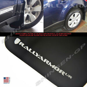 RALLY ARMOR UR BLACK MUD FLAPS FOR 2010-2014 SUBARU OUTBACK  w/ SILVER LOGO