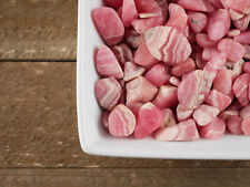 RHODOCHROSITE Tumbled Stones - 10g Lot Small Pink Crystal Stones E0086