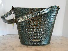 New BRAHMIN Quinn AGATE MELBOURNE Leather Shoulder Bucket Bag $285 AGATE