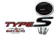 Metal Type S Sport Logo Emblem Front Grill Badge Honda Civic Accord 2 colours