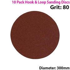 QTY 10 - 300mm 12 Inch Sanding Discs 80 Grit - Orbit Sander - Hook & Loop