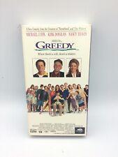 Greedy VHS 1994 Michael J. Fox Kirk Douglas Nancy Travis