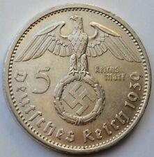 5 Reichsmark 1939 A, Third Reich Germany, Paul von Hindenburg, 5 Mark