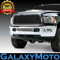DODGE RAM 2500+3500 Direct Replacement Black Mesh Front Hood Grille+Chrome Shell