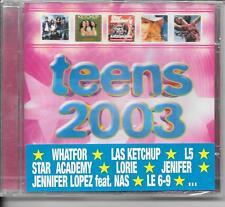 CD COMPIL 21 TITRES--TEENS 2003--WHATFOR/L5/LORIE/JENIFER/LOPEZ/CHARVET--NEUF