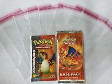 Pokemon Booster Hüllen - Schutzfolie für WOTC Pokemon & YuGiOh Booster Sleeve