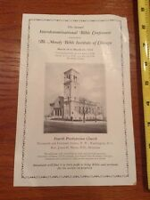 1934 Moody Bible Institute of Chicago Conference in Washington DC Church Flyer