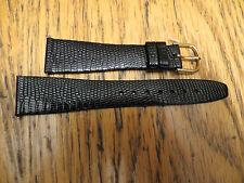10 New Old Stock HIRSCH Genuine Lizard Black Watch Bands Austria 20MM LeJour