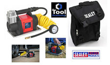 Sealey Mini Air Compressor 12V Heavy Duty with Storage Bag and Accessory Kit
