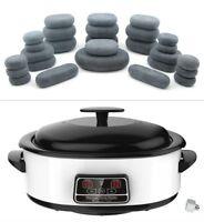 HOT STONE MASSAGE KIT: 27 Basalt Stones + 6 Litre Digital Hot Stone Heater