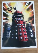 Doctor who A3 red dalek poster by jason fletcher