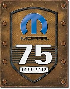 Mopar 75th Anniversary metal sign 320mm x 415mm (de)
