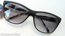 Eschenbach große Kunststoff Damen Sonnenbrille schwarz Verlaufgläser size L