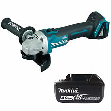 MAKITA 18V LXT DGA454Z ANGLE GRINDER & BL1840 BATTERY FUEL CELL INDICATOR