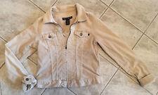 Abercrombie & Fitch Womens Khaki Jacket Coat Sz Medium Corduroy