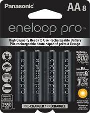 Panasonic Eneloop Pro AA (BK-3HCCA8BA) Ni-MH Rechargeable Batteries (8 Pack)
