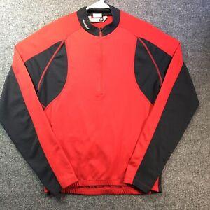 Sugoi Women's 1/2 Zip Up Biking Cycling Jersey Size M/M Red/Black Long Sleeve