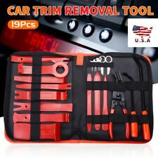 19pc Car Trim Removal Molding Tool Kit Panel Door Pry Dash Interior Clip Set US